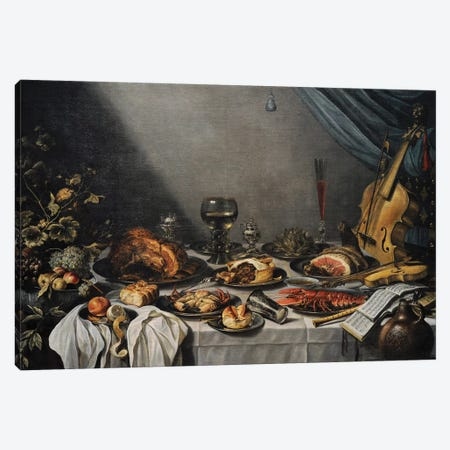 Still Life, 1653, Canvas Print #BMN8278} by Pieter Claesz Canvas Print