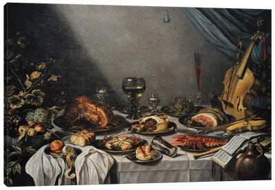 Still Life, 1653, Canvas Art Print