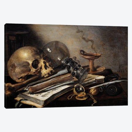 Still Life, Vanite, 1656 Canvas Print #BMN8279} by Pieter Claesz Canvas Art Print