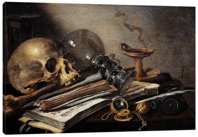 Still Life, Vanite, 1656 Canvas Art Print