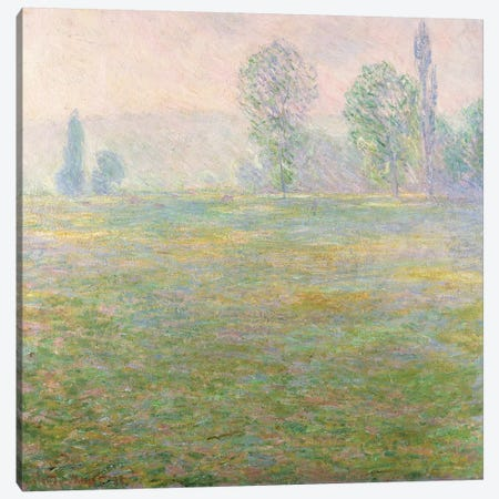 Meadows in Giverny, 1888 Canvas Print #BMN827} by Claude Monet Canvas Art Print