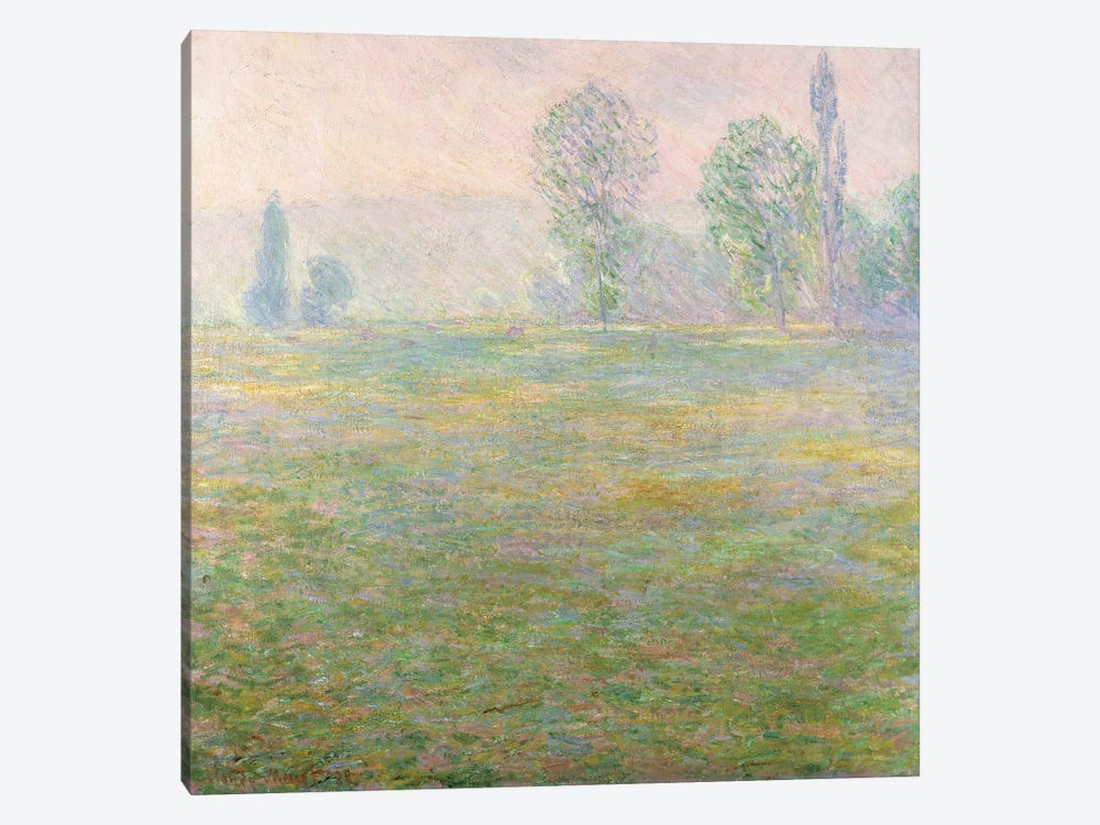 Meadows in Giverny, 1888 by Claude Monet 1-piece Canvas Print