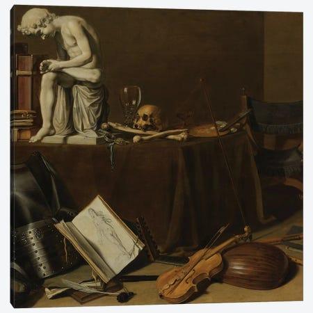 Vanitas Still Life with the Spinario, 1628 Canvas Print #BMN8281} by Pieter Claesz Canvas Wall Art