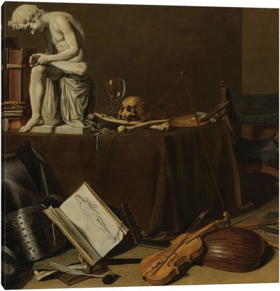 Vanitas Still Life with the Spinario, 1628 Canvas Art Print