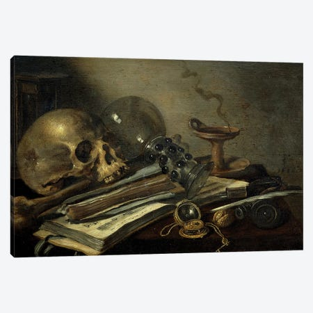 Vanitas, 1656 Canvas Print #BMN8282} by Pieter Claesz Canvas Art