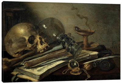 Vanitas, 1656 Canvas Art Print