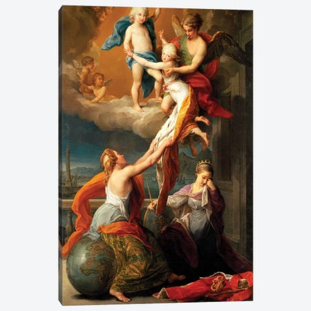 Allegory for the Death of Ferdinand IV's Two Children Canvas Print #BMN8284} by Pompeo Girolamo Batoni Canvas Art Print