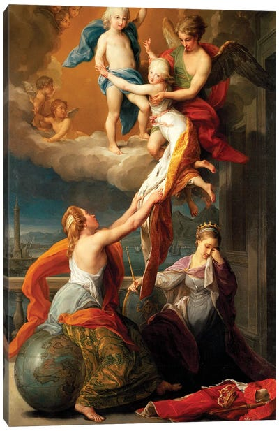 Allegory for the Death of Ferdinand IV's Two Children Canvas Art Print