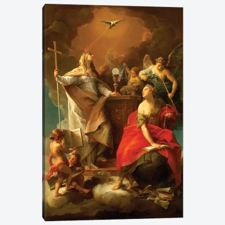 Allegory of Religion Canvas Print #BMN8285} by Pompeo Girolamo Batoni Canvas Print