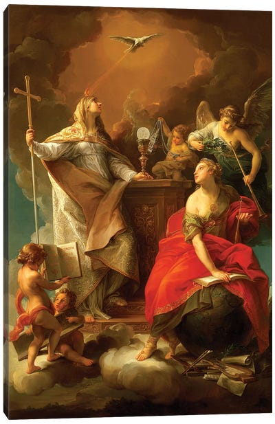Allegory of Religion Canvas Art Print