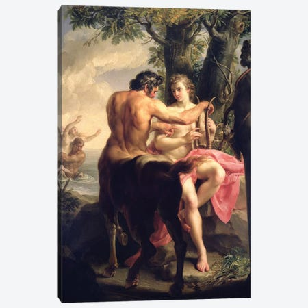 The Education of Achilles by Chiron, 1746  Canvas Print #BMN8289} by Pompeo Girolamo Batoni Canvas Art