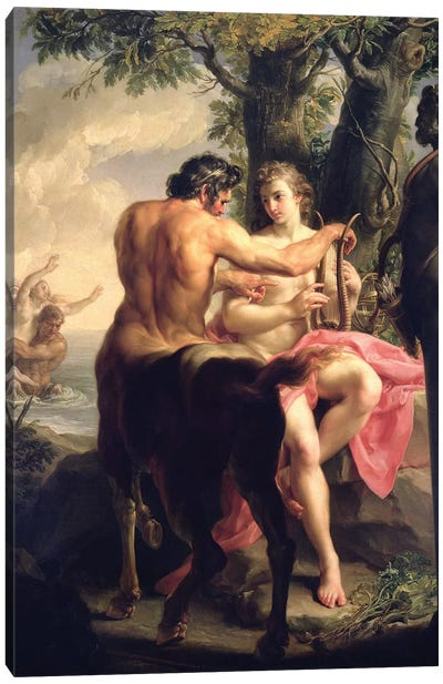 The Education of Achilles by Chiron, 1746  Canvas Art Print