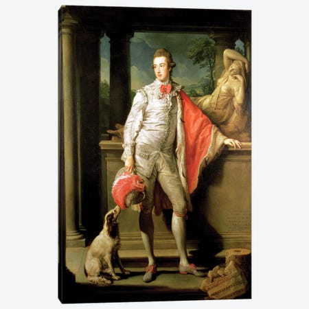 Thomas William Coke, (1752-1842) later 1st Earl of Leicester (of the Second Creation) 1774  Canvas Print #BMN8291} by Pompeo Girolamo Batoni Canvas Print