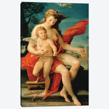 Venus and Cupid, 1785  Canvas Print #BMN8292} by Pompeo Girolamo Batoni Canvas Art Print