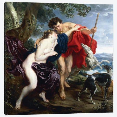 Venus and Adonis, 1621  Canvas Print #BMN8295} by Sir Anthony van Dyck Canvas Art