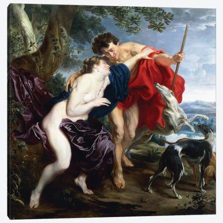 Venus and Adonis, 1621  Canvas Print #BMN8295} by Sir Anthony van Dyck Canvas Art