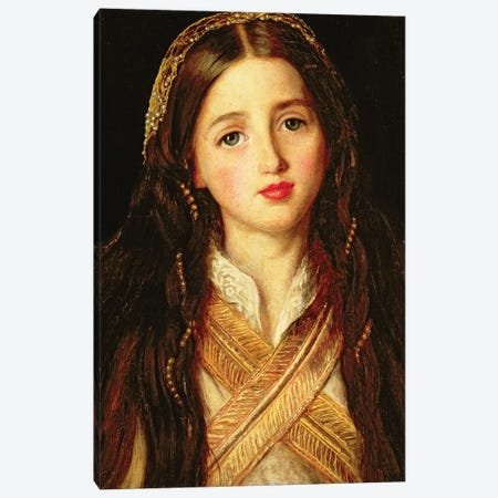 Alice Gray, 1857  Canvas Print #BMN8297} by Sir John Everett Millais Canvas Artwork