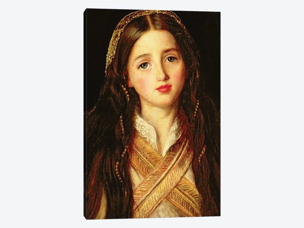 Alice Gray, 1857  by Sir John Everett Millais 1-piece Canvas Print