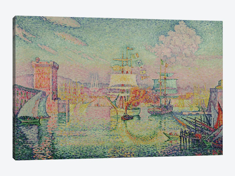 Entrance to the Port of Marseille, 1918  by Paul Signac 1-piece Canvas Print
