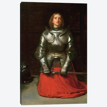 Joan of Arc, 1865  Canvas Print #BMN8300} by Sir John Everett Millais Art Print
