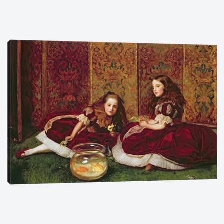 Leisure Hours, 1864  Canvas Print #BMN8301} by Sir John Everett Millais Canvas Print