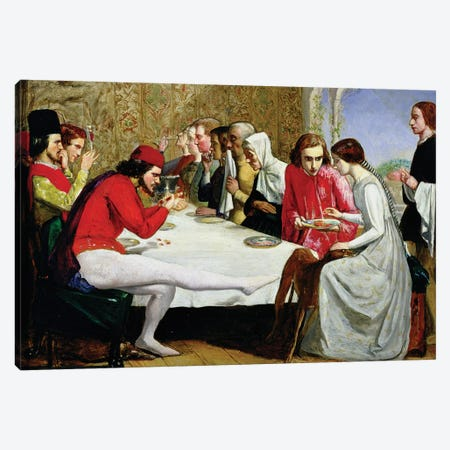 Lorenzo and Isabella, 1849  Canvas Print #BMN8302} by Sir John Everett Millais Art Print
