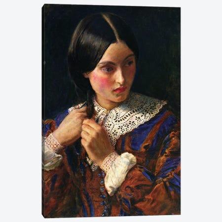 Only a Lock of Hair, c.1857-58  Canvas Print #BMN8304} by Sir John Everett Millais Canvas Art