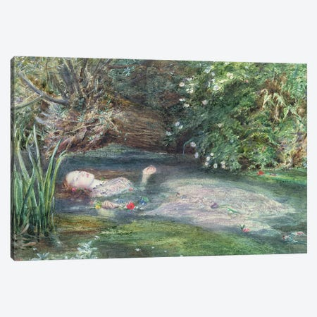 Ophelia Canvas Print #BMN8305} by Sir John Everett Millais Canvas Art