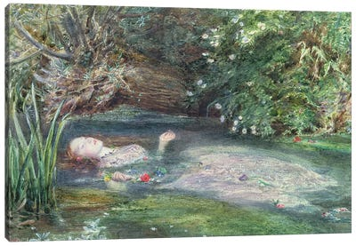 Ophelia Canvas Art Print