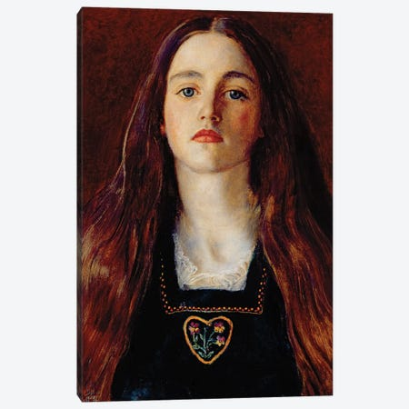Portrait of a Girl, 1857  Canvas Print #BMN8306} by Sir John Everett Millais Canvas Art