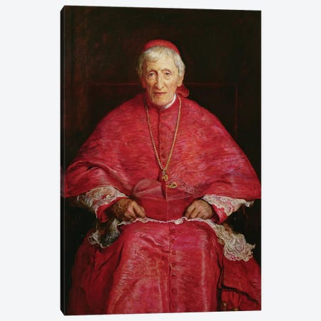 Portrait of Cardinal Newman (1801-90)  Canvas Print #BMN8307} by Sir John Everett Millais Canvas Artwork