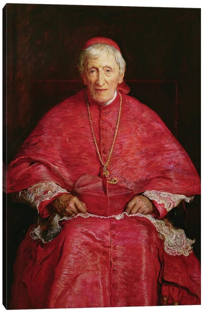 Portrait of Cardinal Newman (1801-90)  Canvas Art Print