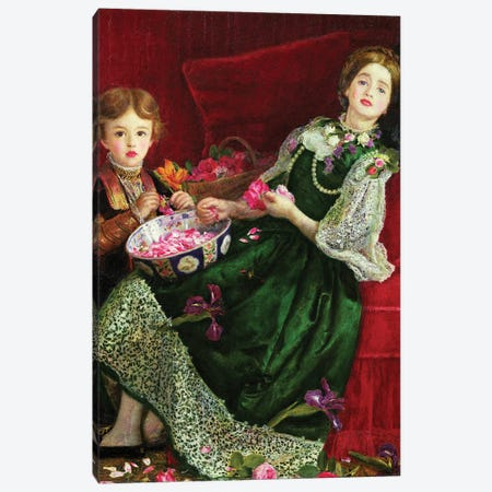 Pot Pourri  Canvas Print #BMN8308} by Sir John Everett Millais Art Print