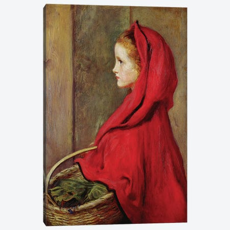 Red Riding Hood  Canvas Print #BMN8309} by Sir John Everett Millais Canvas Print