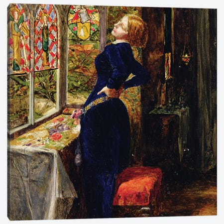 Study for Mariana in the Moated Grange  Canvas Print #BMN8311} by Sir John Everett Millais Canvas Art