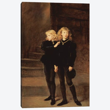The Princes Edward and Richard in the Tower, 1878  Canvas Print #BMN8312} by Sir John Everett Millais Canvas Artwork