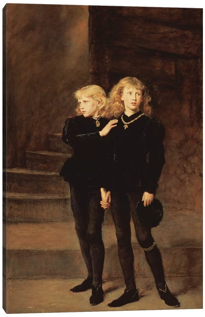 The Princes Edward and Richard in the Tower, 1878  Canvas Art Print