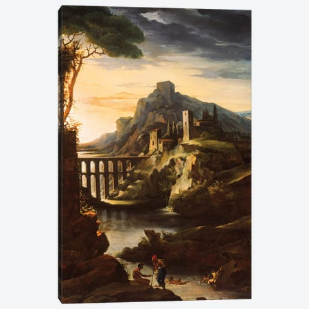 Evening: Landscape with an Aqueduct, 1818  Canvas Print #BMN8313} by Theodore Gericault Canvas Art