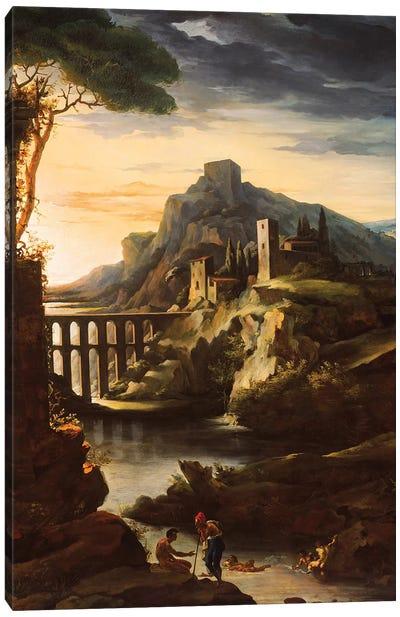 Evening: Landscape with an Aqueduct, 1818  Canvas Art Print