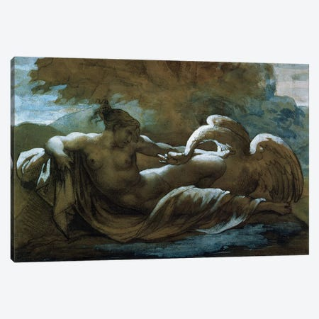 Leda and the Swan  Canvas Print #BMN8318} by Theodore Gericault Canvas Wall Art