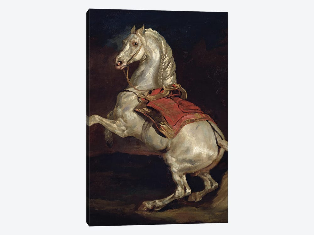 Napoleon's Stallion, Tamerlan  by Theodore Gericault 1-piece Canvas Art
