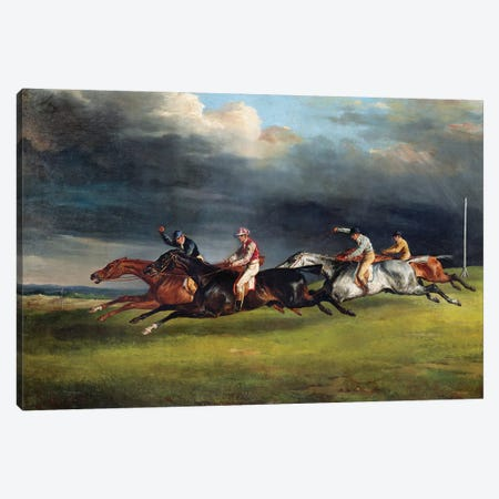 The Epsom Derby, 1821  Canvas Print #BMN8321} by Theodore Gericault Canvas Print