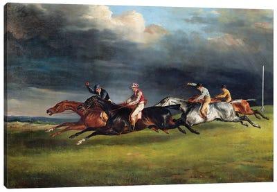 The Epsom Derby, 1821  Canvas Art Print