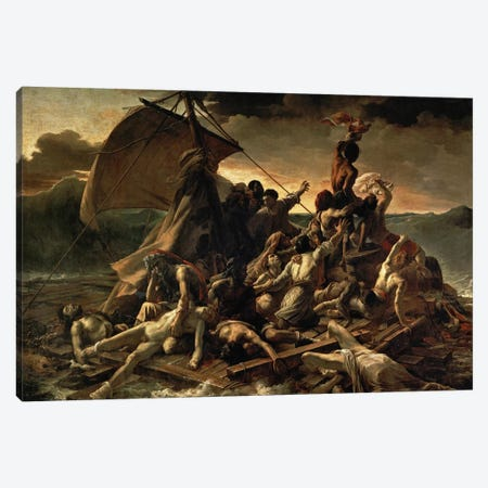 The Raft of the Medusa, 1819  Canvas Print #BMN8322} by Theodore Gericault Canvas Print