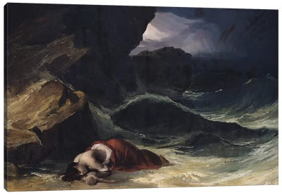 The Storm, or The Shipwreck  Canvas Art Print