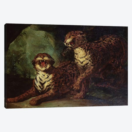 Two Leopards, c. 1820  Canvas Print #BMN8324} by Theodore Gericault Canvas Artwork