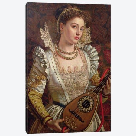 Bianca Canvas Print #BMN8329} by William Holman Hunt Canvas Art Print