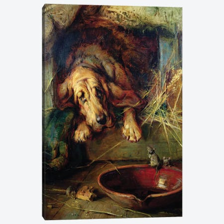 When the Cat's Away the Mice Will Play Canvas Print #BMN832} by Philip Eustace Stretton Canvas Print