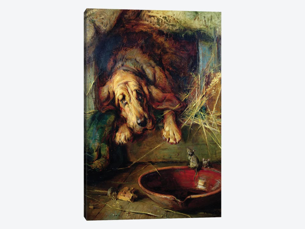 When the Cat's Away the Mice Will Play by Philip Eustace Stretton 1-piece Canvas Print