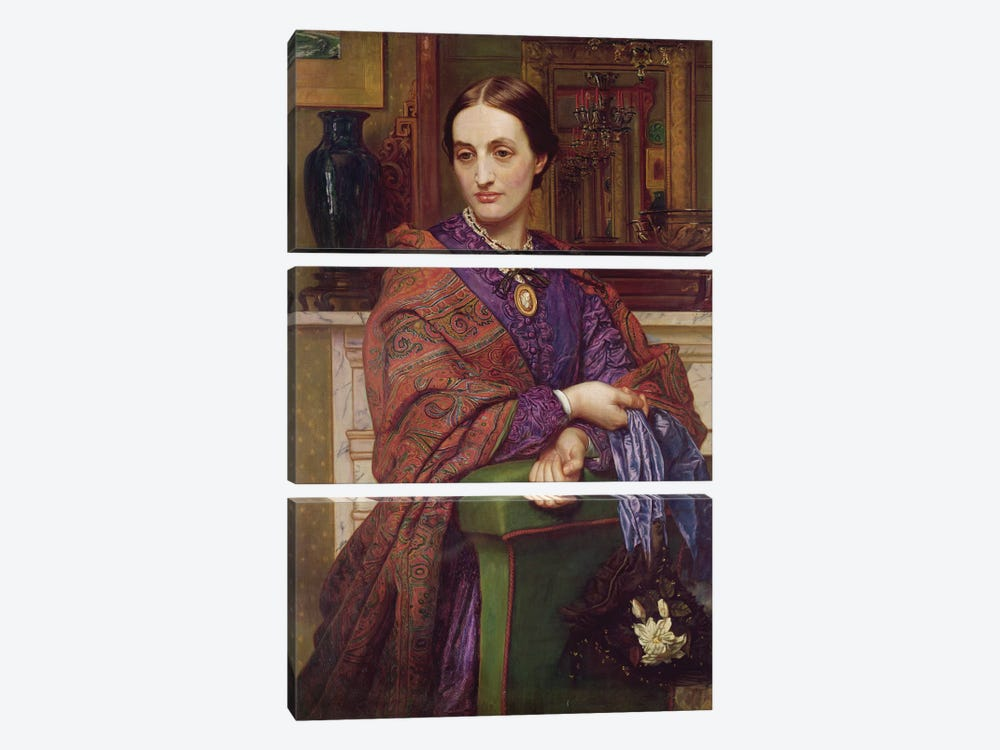 Portrait of Fanny Holman Hunt (1833-66) 1866-68  by William Holman Hunt 3-piece Canvas Print